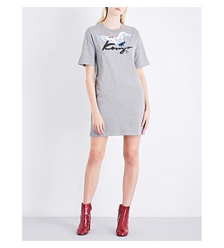 KENZO Printed cotton-jersey T-shirt dress (Dove