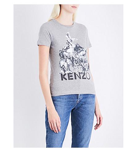 KENZO Classique logo cotton-jersey T-shirt (Dove
