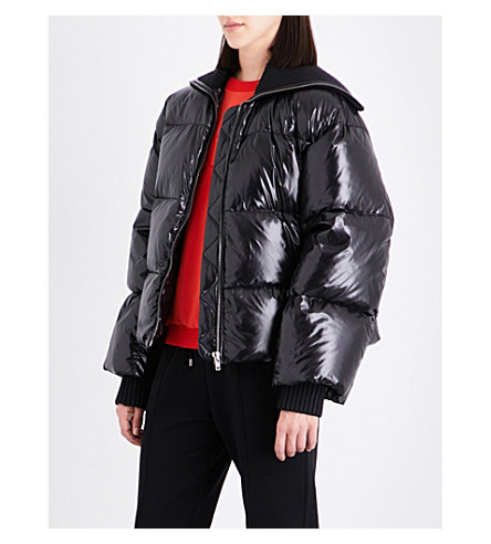 KENZO High-gloss quilted jacket (Black