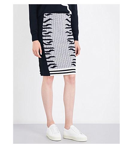 KENZO Geo Tiger wool-blend skirt (Black