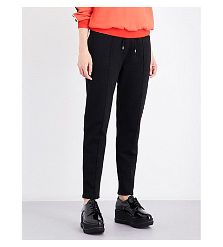 KENZO Tapered cotton-jersey jogging bottoms (Black