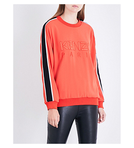 KENZO Embroidered logo sweatshirt (Medium+orange