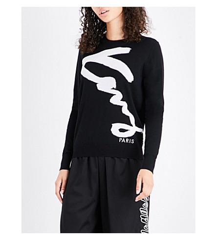 KENZO Signature wool jumper (Black