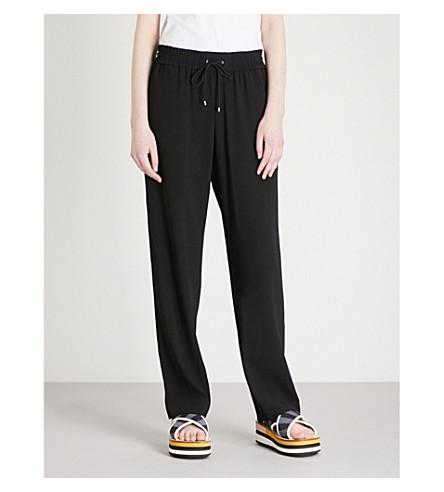 KENZO Side-stripe crepe jogging bottoms (Black