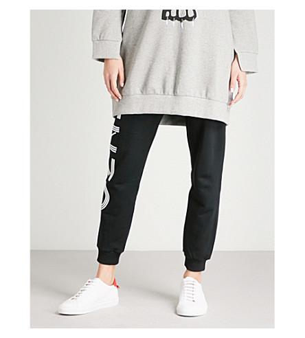 KENZO Logo-print cotton-jersey jogging bottoms (Black