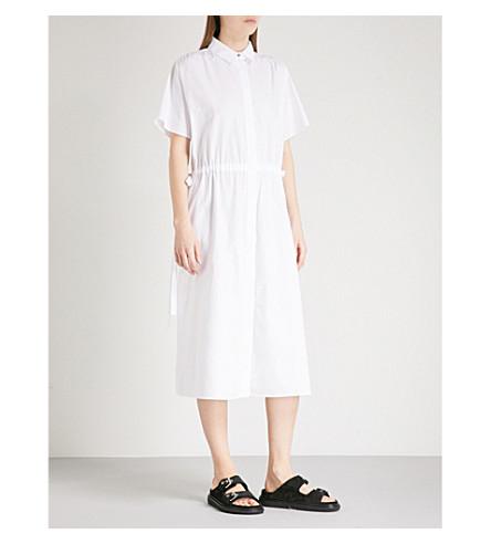 KENZO 拉绳棉 popling 衬衫连衣裙 (白色