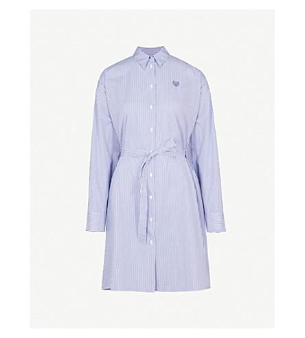KENZO Striped cotton shirt dress (Perriwinkle