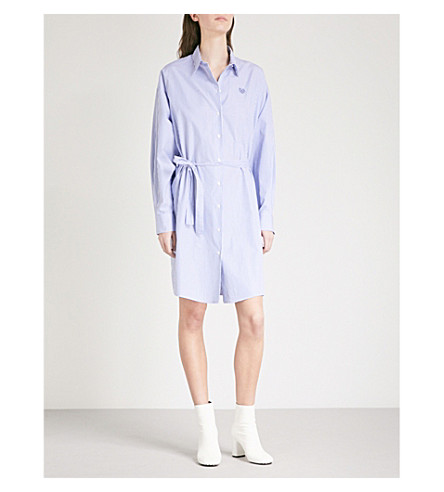 KENZO Striped cotton shirt dress (Perriwinkle
