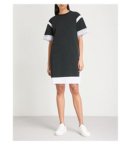KENZO Logo-print cotton T-shirt dress (Black