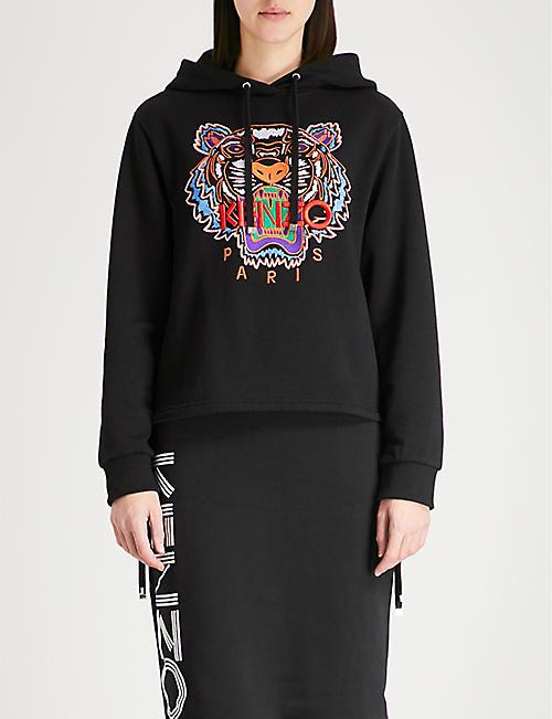 KENZO Tiger motif cotton-jersey hoody