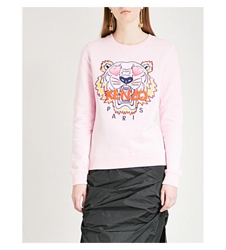 KENZO Valentine's Day Tiger cotton-jersey sweatshirt (Flamingo+pink