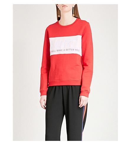 KENZO Valentine's Day Hyper KENZO cotton-jersey sweatshirt (Medium+red