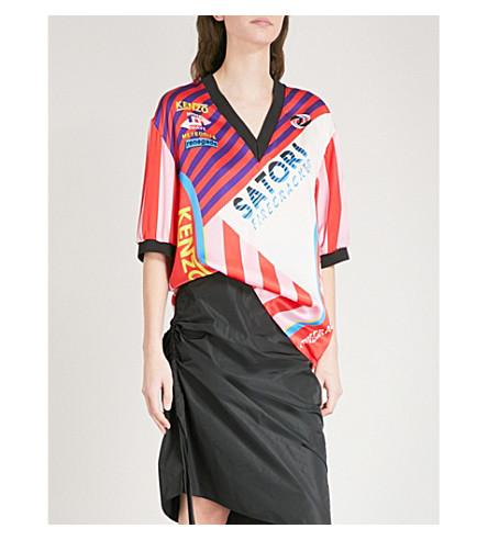 KENZO Hyper silk T-shirt (Medium+red
