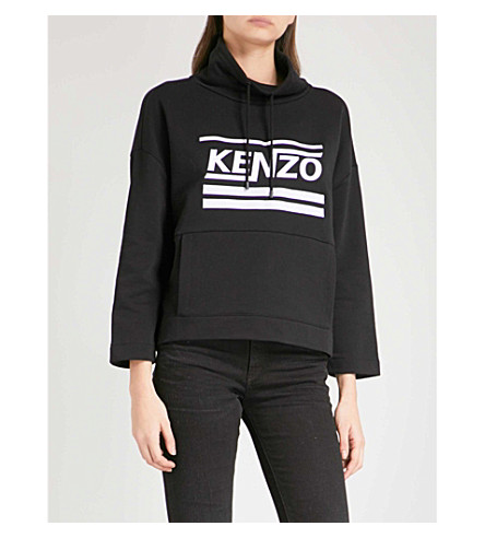 KENZO Dynamic cotton-jersey sweatshirt (Black