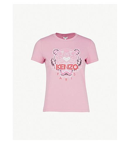 KENZO Tiger cotton-jersey T-shirt (Begonia