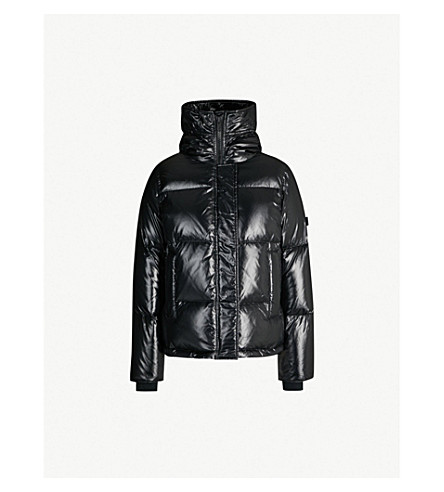 KENZO Glossy shell and down-filled puffer jacket (Black