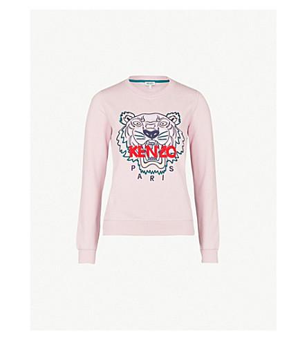 KENZO Tiger cotton-jersey sweatshirt (Pastel pink