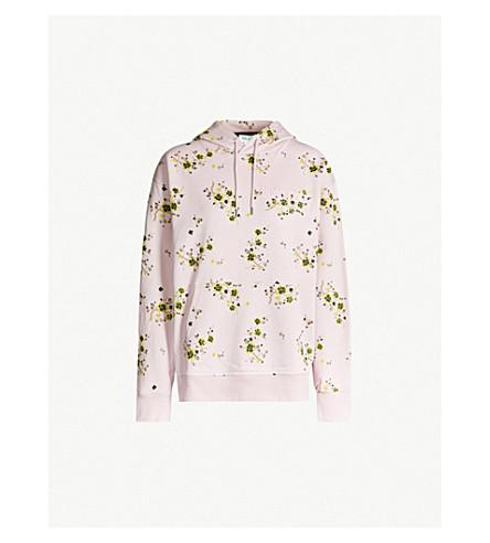 KENZO Floral-print cotton-jersey hoody (Pastel pink