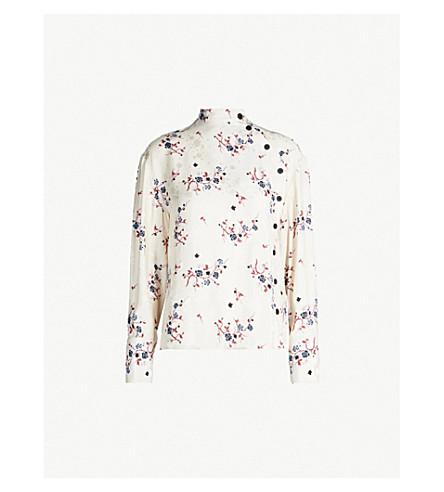 KENZO Floral-print crepe shirt (Sand