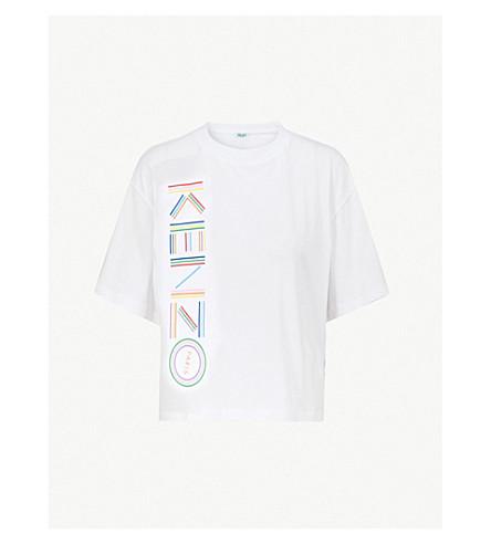 KENZO Logo-print cotton-blend T-shirt (White