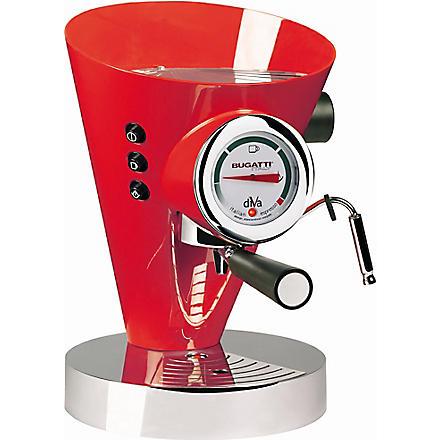BUGATTI Diva espresso coffee machine (Red