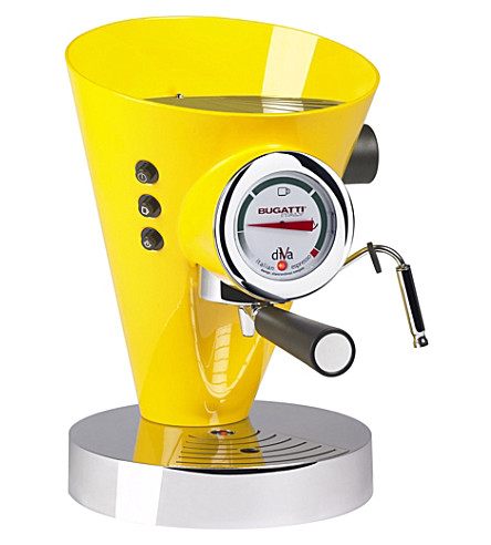 BUGATTI Diva espresso coffee machine (Yellow