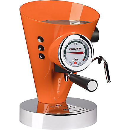BUGATTI Diva espresso coffee machine (Orange