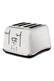 DELONGHI Brillante four-slice toaster