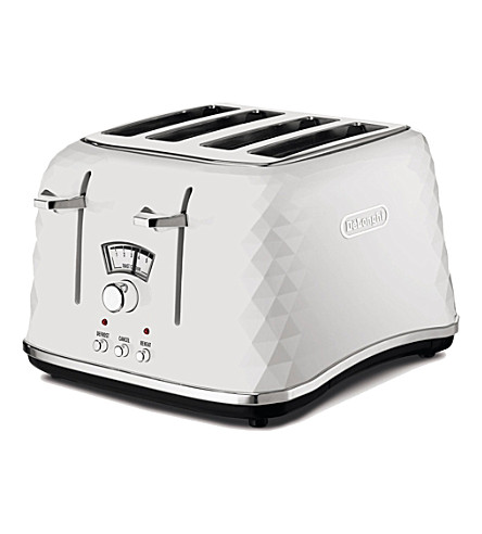 DELONGHI Brillante four-slice toaster (White