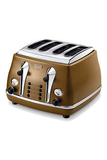 DELONGHI Icona Vintage four-slice toaster