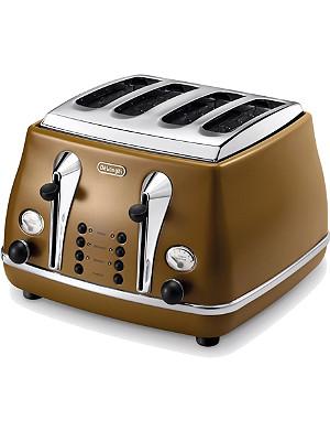 DELONGHI Icona Vintage four-slice toaster