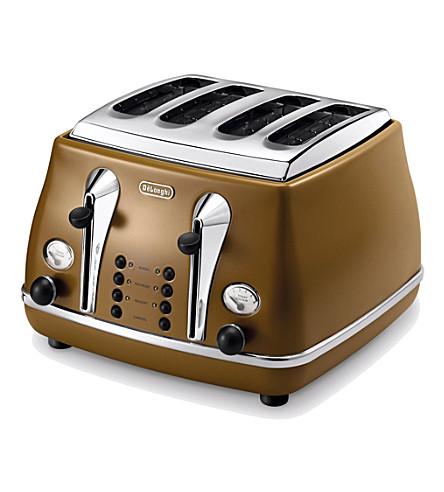 DELONGHI Icona Vintage four-slice toaster (Mahogany