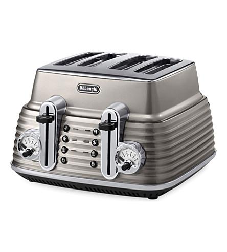 DELONGHI Scultura four-slice toaster (Champagne