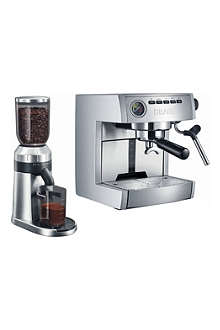 GRAEF Espresso machine and grinder gift set