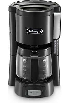 DELONGHI Drip coffee machine black and stainless steel