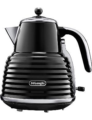DELONGHI Scultura kettle in black