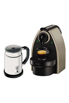 NESPRESSO Essenza coffee machine and Aeroccino milk frother