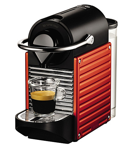 KRUPS Pixie coffee machine (Red