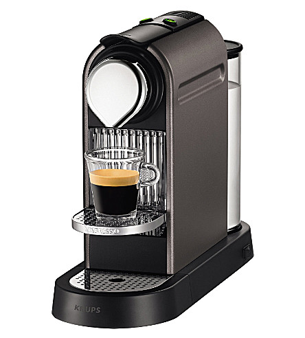 NESPRESSO CitiZ coffee machine (Titanium