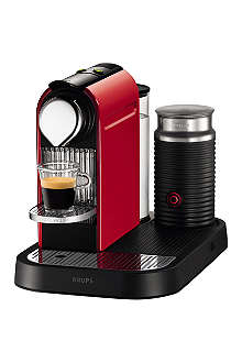 NESPRESSO CitiZ coffee machine and Aeroccino milk frother