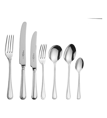 ARTHUR PRICE Bead silver-plated 124-piece cutlery set for 12