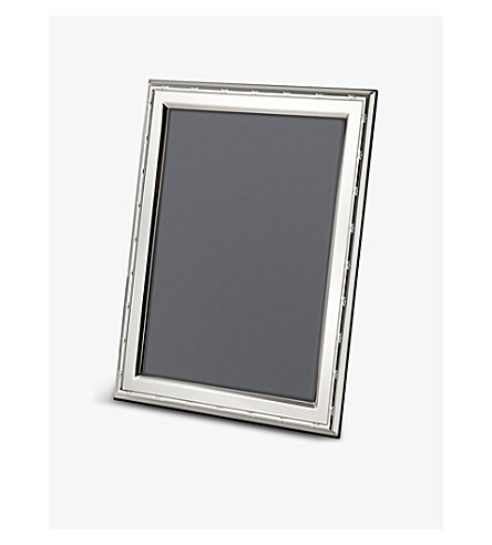ARTHUR PRICE Reed ribbon sterling silver photo frame 10