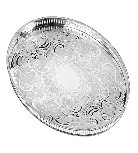 ARTHUR PRICE Silver-plated 39cm oval tray