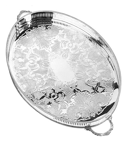ARTHUR PRICE Silver-plated 46cm oval tray