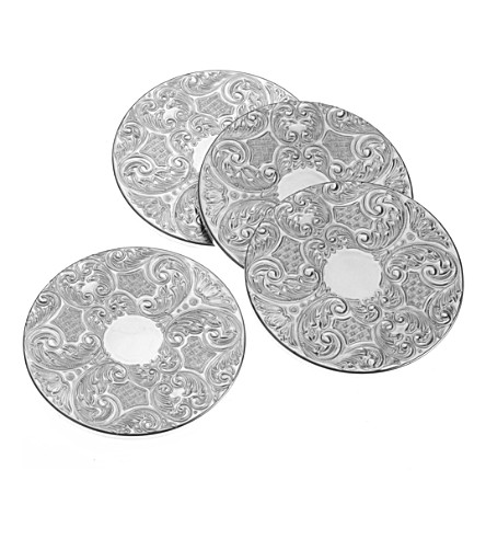ARTHUR PRICE Silver-plated four-piece coasters set
