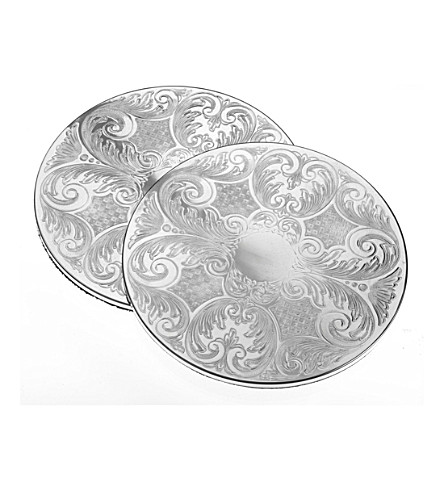 ARTHUR PRICE Pair of 23cm silver-plated placemats