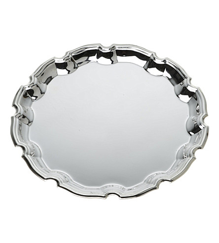 ARTHUR PRICE Chippendale 25cm silver-plated tray