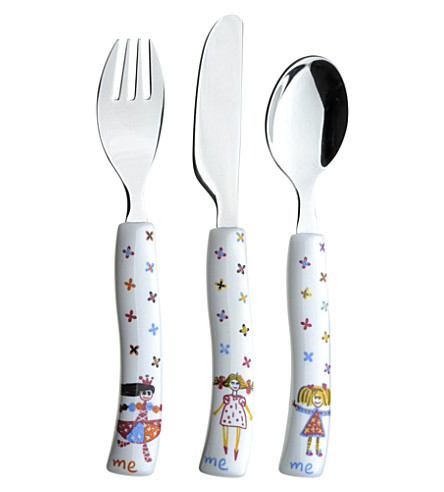 ARTHUR PRICE Children's three-piece cutlery set for girls