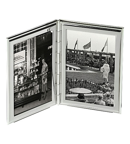 ARTHUR PRICE Silver-plated double photo frame