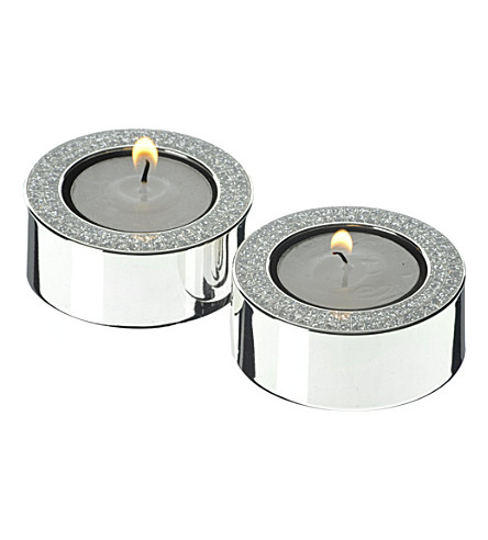 ARTHUR PRICE Diamante tea light holders